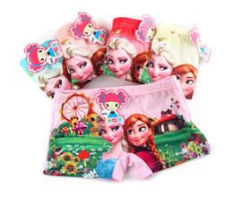 Wholesale Babies Underwear - Forzen underwear 2016 kids clothes baby girl clothes Anna princess printed cute cartoon short Boxers underwear