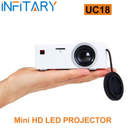 Wholesale Micro Projector Lcd - Wholesale-LED Projector UNIC UC18 Projector Portable Mini Projector Full HD 1080P Micro HDMI Home Theater Beamer Multimedia LCD Video Hot