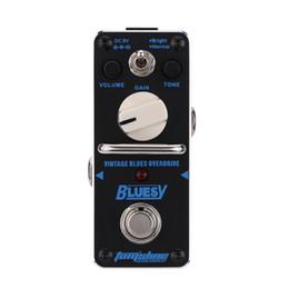 2019 pro guitariste Nouvelle arrivee! AROMA ABY-3 Bluesy Vintage Blues Overdrive Mini Pédale Effet Guitare Simple avec True Bypass Guitarra Pédale de réverbération analogique