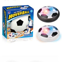 Wholesale Toy Suspended Air - Lights up Air Cushion Football Disc LED Children Floating Ball Toy Outdoor Hover Air Suspended Football Soccer Indoor Sports Inutdoor Games
