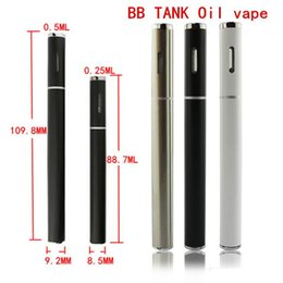 Wholesale Disposable Atomizer Kits - 2017 new BB Tank disposable 510 wax atomizer Start Kit for thick oil with battery pp tube package
