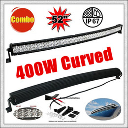 "Wholesale Led Emergency Light Bar Truck - 52"" 400W Car LED Light Bar 60 Led*3W Combo Beam for Off-road SUV Boat Truck Jeep Pickup Tractor Emergency & Rescue Atv Ute Trailer 10-30V"