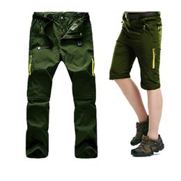 Wholesale Nylon Pants Hiking - 5XL Mens Summer Quick Dry Removable Pants Outdoor Sport Waterpoof Brand Shorts Hiking Trekking Thin Male Fishing Trousers Outdoor Apparel