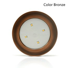 Wholesale Stick Tap Lights - 1X Touch Lamp Cabinet Wardrobe 4Led Pat Light Battery Operated Led Night Lights Stick Tap LED Wall Light Lamp for Indoor Car