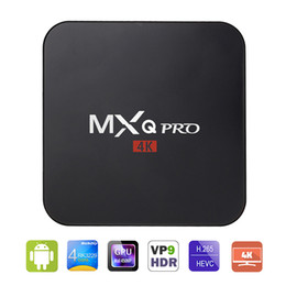 Wholesale Smart Tv Android Hd - Factory Sale MXQ Pro Smart Android 6.0 TV Box Rockchip RK3229 Quad Core Google Set Top Box Fully Loaded KD16.1 Jarvis