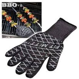 Wholesale Grill Pits - Ultimate Barbecue BBQ Pit Mitt Heat Resistant Fireplace BBQ Grill Kitchen Glove Microwave Silicone Oven Mitts manoplas
