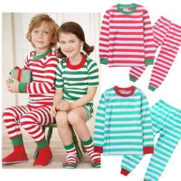 Wholesale 2016 Halloween christmas best gift for girls Toddler Kids Baby Boy Girl Striped Outfits good quality children Pajamas Sleepwear Set
