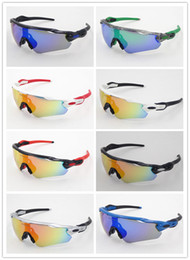 Wholesale sport cycling sunglasses - 2016 New Brand Radar EV Pitch Polarized sun glasses coating sunglass for women man sport sunglasses riding glasses Cycling Eyewear uv400