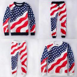 Wholesale Denim Hoodie Women - Wholesale-Unisex Men Women Casual American Flag Sweatpants Hoodie Casual Cotton USA Flag Joggers Emoji Pants Hoodie Outfit 05-035