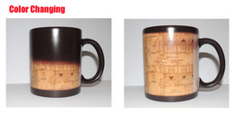 Wholesale magic map - Harry Potter Marauder Map Color Changing cup mug Magic heat sensitive Coffee Mug Tea Cup gift Free Shipping