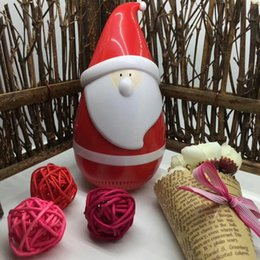 Wholesale Toys Sold Christmas - DHL Free Santa Claus Speaker Christmas Father Tumbler roly-poly mini wireless Bluetooth speakers Hot Selling Toys as Christmas gift