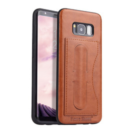 Wholesale Iphone Leather Case Car - For Samsung S8 Plus PU Leather Case With Card Slot Magnetic Suction Car Mount Case For Iphone 7 Plus With Retail Package