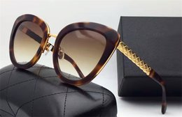 Wholesale Woman Ch - fashion women sunglasses brand designer CH 5368 18K gold plated cat eye designer sunglasses for women coating lens summer design with box