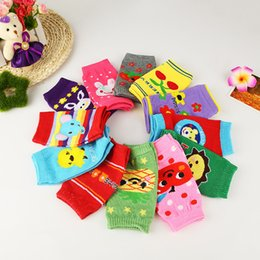 Wholesale Kids Padded Leggings - Cotton baby socks child knee elbow wrist Cartoon kids knee pads relent Leggings 50 p l