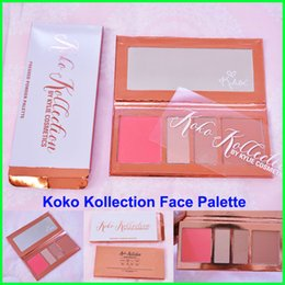 Wholesale Eye Concealer Palette - KOKO Kollection Face Palette Kylie Blush Eye shadow Palette 4 Colors Kylie In Love with the Koko Kollection 2 Highlighter Pressed Powder