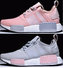 Wholesale Orange Promotions - Factory sales promotion pink red gray NMD Runner R1 Primeknit PK Low Men's & Women's shoes 2018 Classic Fashion Sport Shoes With Boxes 36-39