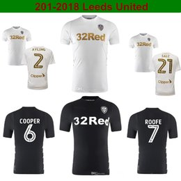 Wholesale Gold Cooper - 2017 18 Leeds United Soccer Jersey Top Quality Home Away Shirts 17 18 England Champion League Shirts SAIZ ROOFE COOPER Football Shirts