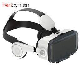 любитель VR Z4 3D картон виртуальной реальности VR очки гарнитура Vrbox + стерео наушники для 4-6