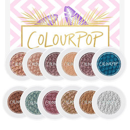 Wholesale Eyeshadow Singles - New Arrival Colourpop Super Shock Bold Well Pigmented Eye Shadow 10 Colors Waterproof Matte Natural Eyeshadow Free Shipping Drop Shipping