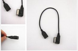 Wholesale Audi Mmi Cable Usb - AUX Interface AMI MMI USB Flash Drive Cable Adapter For Q5 Q7 R8 A3 A4 A5 A6 TT Free shipping