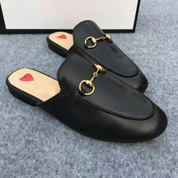 Wholesale Sexy Flat Women Shoes - 41 2017 Fall Genuine Leather Loafers Casual Women Shoes Flats Slip On Sexy Street Style Ladies Shoes Luxury design Woman Summer Slippers