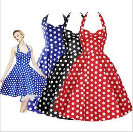 2017 MaJolena 2017 Verano Más Tamaño Retro 50 s Swing Pin up vestido Lunares Rockabilly Plaid Vintage Dress Short Women Gowns vestidos desde fabricantes