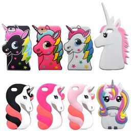 "Wholesale 3d Iphone 4s Cat Case - 3D Cartoon Cat Case For iPhone 4 4S 5S SE 5C 6 6S 7 Plus 5.5"" Cover Judy Dog Zebra Unicorn Bear Bunny Pig Horse Phone Bags"