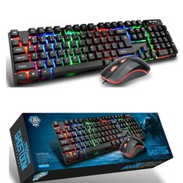 Wholesale Mechanical Suspension - 2017 wholesale and retail high quality high keycap backlit mouse and keyboard set luminescent suspension mechanical feel keyboard mouse set
