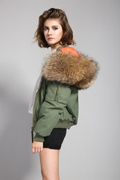 Wholesale Blue Rabbit Jacket - 2016 Autumn and Winter Women Thicken Bomber Jacket All Real Fur Raccoon and Rabbit Fur Bomber Jacket Army Green and Black