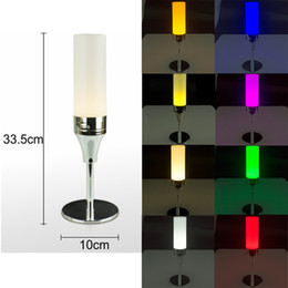 Wholesale Led End Table - High-end LED Bar table Lamp Decoration Touch Tabletop Lamp Rechargeable adjustable Light Suit for Cafe Restaurant KTV
