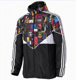 Wholesale Trend Coat Men - Fall-Hot ! New Men Jacket Spring Autumn Patchwork Reflective silm Jacket Sport Hip Hop Outdoor Waterproof Windbreaker Men Coat Trend Brand