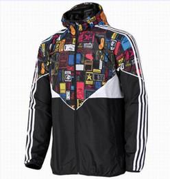 Wholesale Hot Sport Coats Men - Fall-Hot ! New Men Jacket Spring Autumn Patchwork Reflective silm Jacket Sport Hip Hop Outdoor Waterproof Windbreaker Men Coat Trend Brand