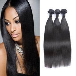Wholesale Good Quality Hair Extensions - Brazilian Virgin Hair Extensions Human Hair Weave 3PCS 150g Lot Straight Hair Weave Bundles Good Quality No Shedding 8-26inch Available