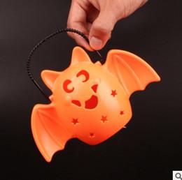 Wholesale Toy Bats Halloween - Wholesale-Halloween Horror Sound bat bag light toy flash music lantern toy free shipping