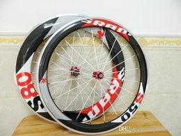 Wholesale Carbon Road Wheels Sram - 50mm+88mm Sram S80 s50 Alloy Wheelsets 50mm Carbon Road Bicycle Wheels 700C Wheels Clincher Bike Wheel Set A01