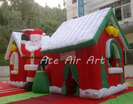 Wholesale Christmas Inflatable Santa Claus - new product Christmas decorating Santa Claus standing by inflatable Santa grotto