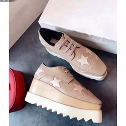 Wholesale Light Brown Wedges - New style fashion women high quality causal shoes luxury designer stars italian brand genuine leather platform wedges sneakers size 34-40