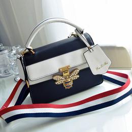 Wholesale Fringe Shoulder - women padlock pearl bag fringe shoulder strap bag designer bee buckle handbags leather crossbody messenger bags famous brands bags