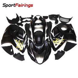 Wholesale Hayabusa Black Gloss Fairing - Gloss Black Fairings For Suzuki GSXR1300 Hayabusa 08 09 10 11 12 13 14 2008 2014 2015 2016 ABS Motorcycle Fairing Kit Bodywork Hulls New