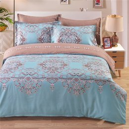 Wholesale Green Queen Size Quilt - Fresh Blue Green Spring Bedding Set Of 2PC-3PC Duvet Cover Set Quilt Cover Pillowcase Twin Queen King Size Factory Price