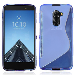 Wholesale Tcl Phone Covers - S Line Clear Crystal Soft TPU Gel Case Cover For Blackberry BB DTEK60 Alcatel Idol 4S\OT-6070\TCL 950 Phone Bag Cases