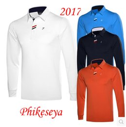 Wholesale Men S Brand Golf Polo - Hot sell brand men golf clothing Male long-sleeve Golf sport clothes POLO S-XXL 4 colors golf T-shirt Free shipping
