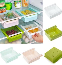 Wholesale Drawer Folded - Kitchen Refridgerator Fridge Space Saver Freezer Organizer Storage Rack Holder Fridge Freezer Shelves Holder Pull-out Drawer bin KKA1555