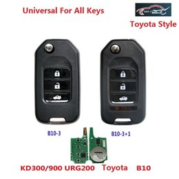 Wholesale Toyota Remote Controls - keydiy B10 3 BUTTON 3+1 Button For Toyota remote key for KD200 KD900 URG200 Remote Control to produce 433mhz and 315mhz