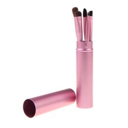 Пони макияж онлайн-5 шт./компл. профессиональный пони волос тени для век кисти набор кистей для макияжа для глаз Макияж набор инструментов с круглой трубки 300 компл.