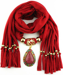 Wholesale Acrylic Drop Pendants Beads - Antique Gold Drop Pendant Scarves With Resin colorful rinstone Unique Jewelry Beads scarf shawl Free shiping
