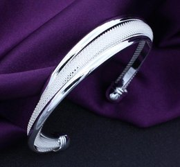 Wholesale Sterling Silver Twisted Wire Bracelet - New Hot Women Fashion Beauty 925 Silver Plated Twisted Wire Mesh Cuff Bracelet Bangle
