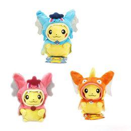 "Wholesale Pokemon Charizard Plush - Poke Pocket Monste Plush Toys Cosplay Pikachu Mega Charizard Cotton Plush Doll Stuffed Toy Children kids Christmas Gifts 8"""