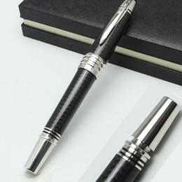 Wholesale Carbon Pen - New arrived Great JFK Special Edition Rollerball Pen MB Clip Collection Cover fiber carbon office writing pen gift
