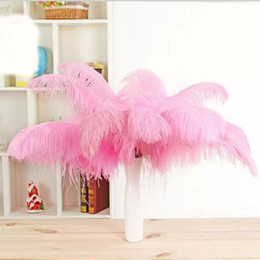 Wholesale Wedding Ostrich Feather Centerpieces - 13colours DIY Ostrich Feathers Plume Centerpiece for Wedding Party Table Decoration Wedding Decorations 2015 hot selling 20-25CM